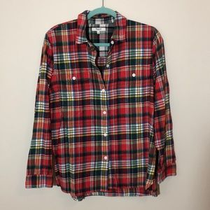 Madewell flannel button up plaid shirt size L
